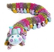 Baby Boo Alphabet Caterpillar with blue hat
