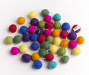 Felt Rainbow Ball Garland 2m