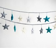 Felt Star Garland - starry night1