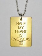 Half My Heart Is Overseas Pendant