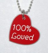 100% Loved Heart Shaped Pendant
