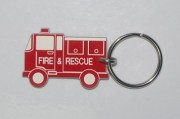 Plastic Fire & Rescue Employee ID Keyring
